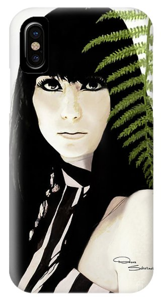 Sonny And Cher iPhone Case - Cher Classic 60's by Donna Schellack