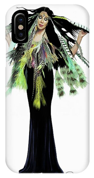 Sonny And Cher iPhone Case - Cher Dtk Feathers by Donna Schellack