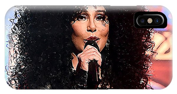 Sonny And Cher iPhone Case - Cher by Karl Knox Images