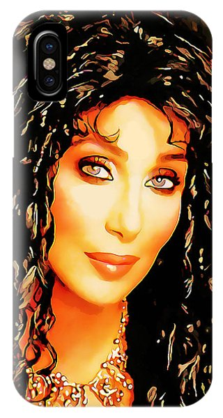 Sonny And Cher iPhone Case - Cher by Marvin Blaine