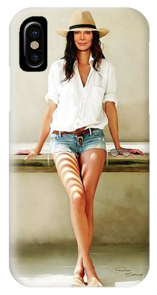 Sonny And Cher iPhone Case - Cher - Shades Of Summer by Donna Schellack
