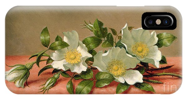 Cutting iPhone Case - Cherokee Roses by Martin Johnson Heade