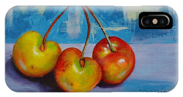 Cherries Trio IPhone Case
