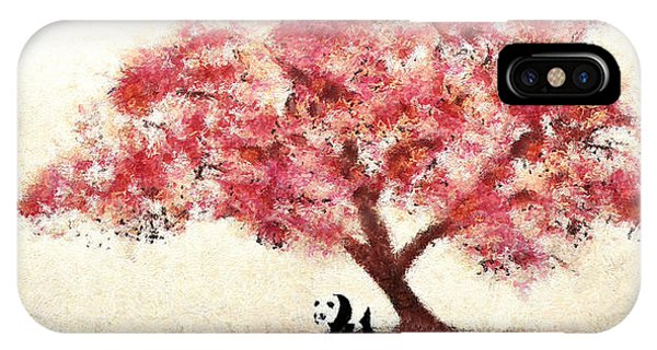 Cherry Blossom And Panda IPhone Case