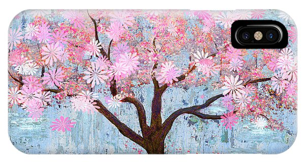 Cherry Blossom Flowering Art IPhone Case