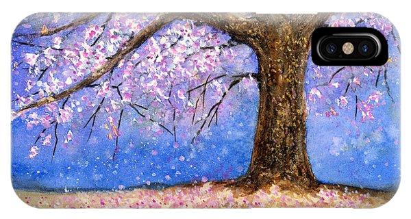 Blossom iPhone Case - Cherry Blossom by Hailey E Herrera