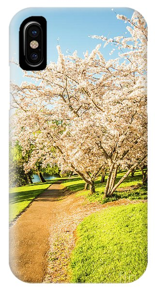Beauty In Nature iPhone Case - Cherry Blossom Lane by Jorgo Photography - Wall Art Gallery
