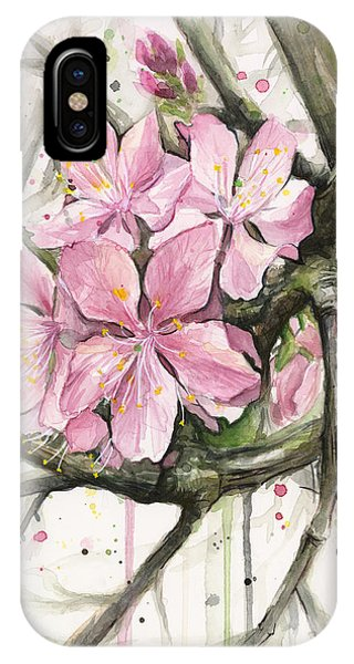 Blooming iPhone Case - Cherry Blossom by Olga Shvartsur