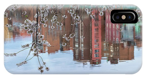 Cherry Blossom Reflections IPhone Case