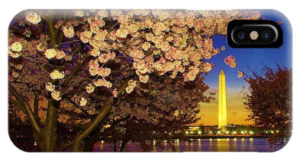 Cherry Blossom Washington Monument IPhone Case