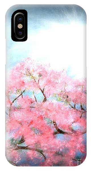 IPhone Case featuring the painting Cherry Blossoms by Denise Tomasura