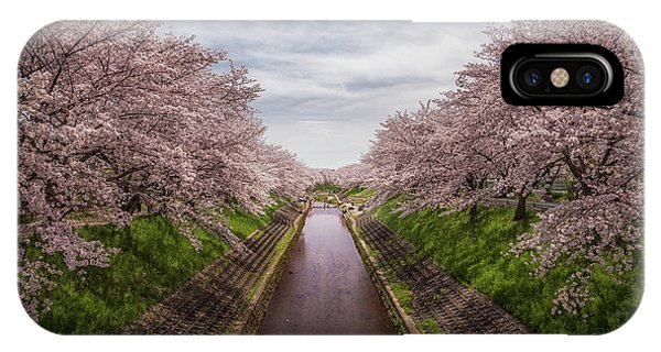 IPhone Case featuring the photograph Cherry Blossoms In Nara by Rikk Flohr