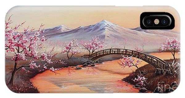 Cherry Blossoms In The Mist - Revisited IPhone Case