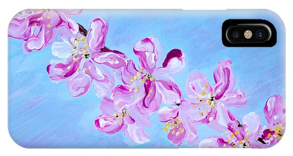 Cherry Blossoms. Thank You Collection IPhone Case