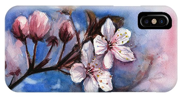 Blossoms iPhone Case - Cherry Blossoms  by Olga Shvartsur
