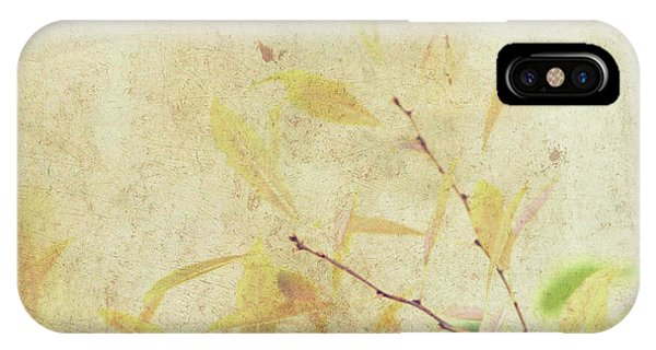 Cherry Branch On Rice Paper IPhone Case