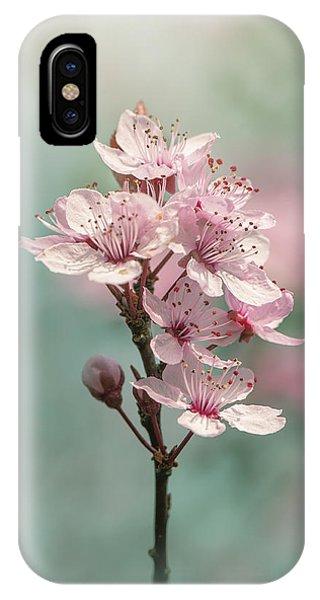 Close Focus Floral iPhone Case - Cherry Clouds by Jacky Parker