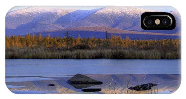 Cherry Pond Reflections Panorama IPhone Case