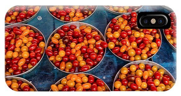 Cherry Tomatoes In Lyon Market IPhone Case