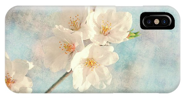 Close Up Floral iPhone Case - Cherry Tree Blossom by Delphimages Photo Creations