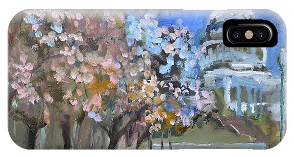 Cherry Tree Blossoms In Washington Dc IPhone Case