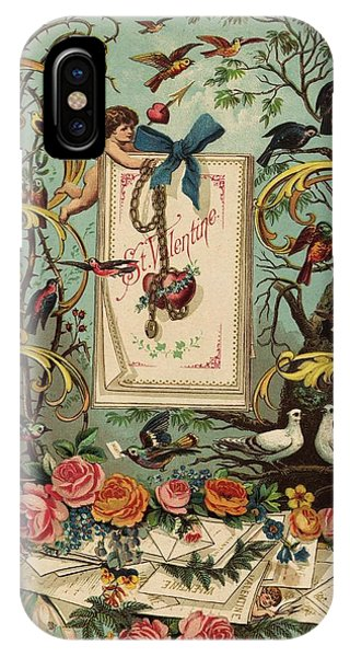 Cherubs, Doves, And Foliage In Outdoor Phone Case by Gillham Studios