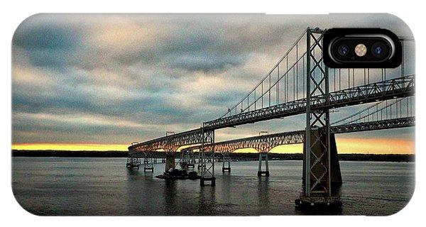 Chesapeake Bay Bridge At Twilight IPhone Case