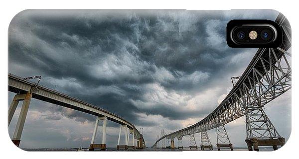 Chesapeake Bay Bridge Storm IPhone Case