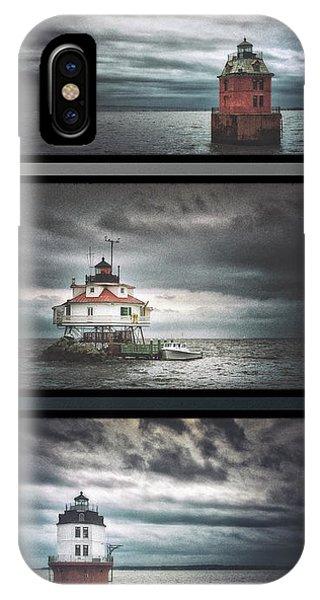 Chesapeake Bay iPhone X Case - Chesapeake Bay Lighthouses by Robert Fawcett