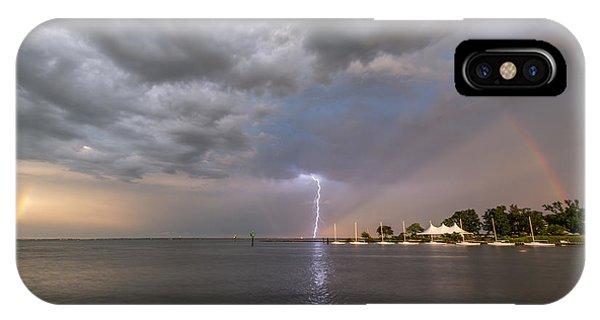 Chesapeake Bay iPhone X Case - Chesapeake Bay Rainbow Lighting by Jennifer Casey