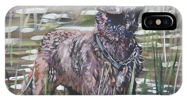 Chesapeake Bay iPhone X Case - Chesapeake Bay Retriever Bird Dog by Lee Ann Shepard