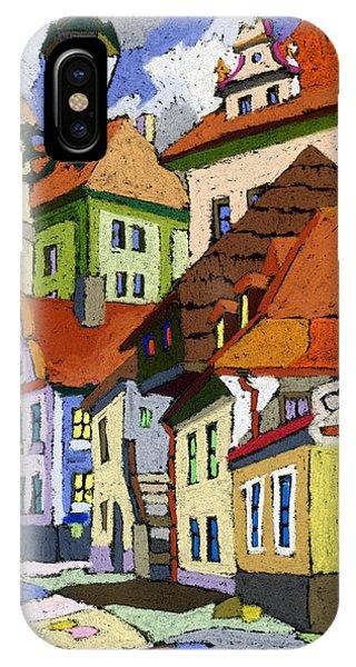 Pastel iPhone Case - Chesky Krumlov Masna Street 1 by Yuriy Shevchuk
