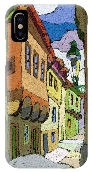 iPhone Case - Chesky Krumlov Street Nove Mesto by Yuriy Shevchuk
