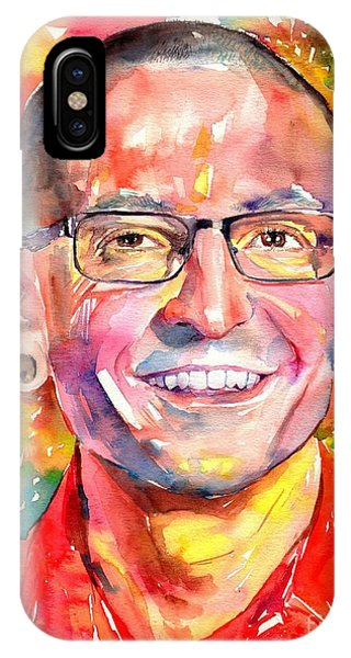 Rolling Stone Magazine iPhone Case - Chester Bennington Watercolor by Suzann's Art