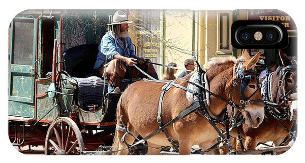 Chestnut Horses Pulling Carriage IPhone Case