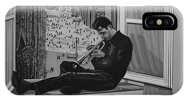 Music iPhone Case - Chet Baker by Paul Meijering