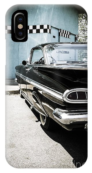 Chevrolet Impala In Front Of American Diner IPhone Case