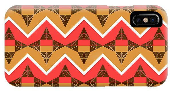 Autumn iPhone Case - Chevron And Triangles by Gaspar Avila