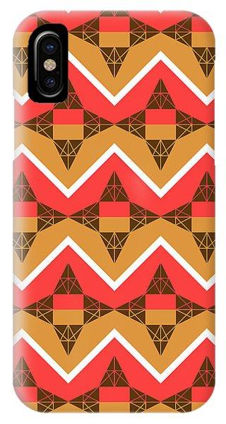 Autumn iPhone X Case - Chevron And Triangles by Gaspar Avila