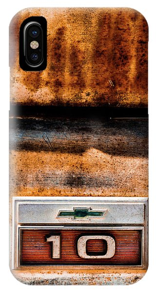 Auto Show iPhone Case - Chevy C10 Rusted Emblem by Ron Pate