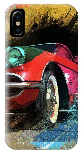 Chevy Corvette Digital Art IPhone Case