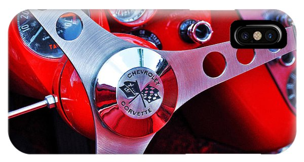 Chevy Corvettte Steering Wheel IPhone Case