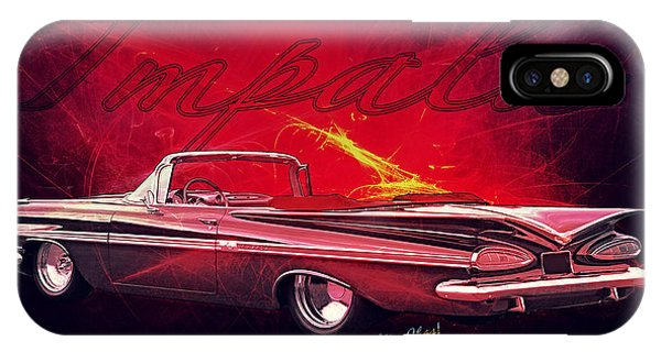 Chevy Impala Convertible For 1959 IPhone Case