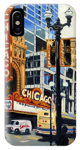 Chicago - The Chicago Theater IPhone Case