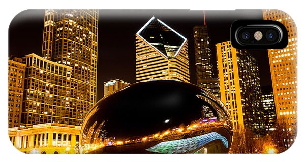 Chicago Bean Cloud Gate At Night IPhone Case