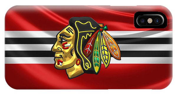 Patriotic iPhone Case - Chicago Blackhawks by Serge Averbukh