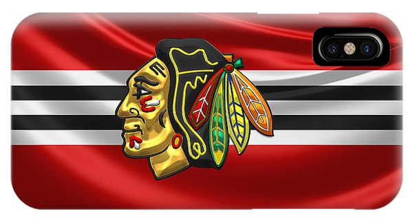 Sports iPhone Case - Chicago Blackhawks by Serge Averbukh