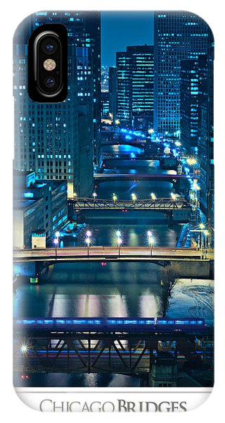 Chicago River iPhone Case - Chicago Bridges Poster by Steve Gadomski