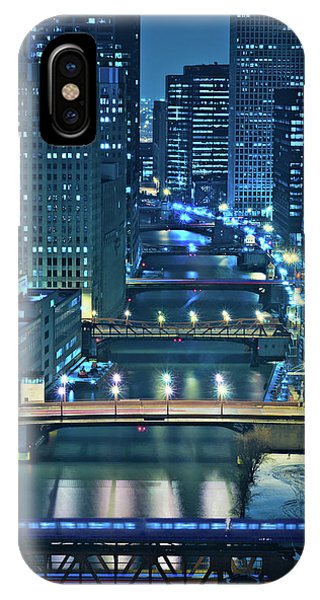 Chicago River iPhone Case - Chicago Bridges by Steve Gadomski