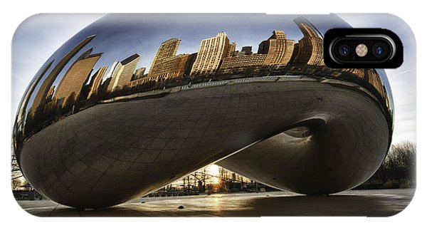 Chicago Cloud Gate At Sunrise IPhone Case